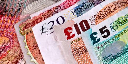 English - British banknotes - Currency Banco de Imagens