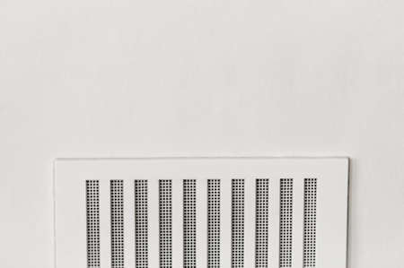 vent: Home air ventilation vent plastic white wall frame negative space