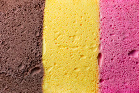 vanilla ice cream: Colourful Neapolitan ice cream background and texture