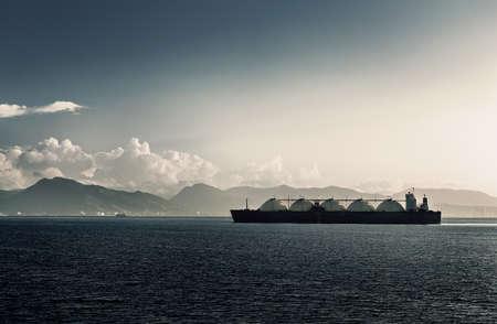 Vloeibaar aardgas LNG-tankerschip MET VIJF TANKS Trinidad en Tobago