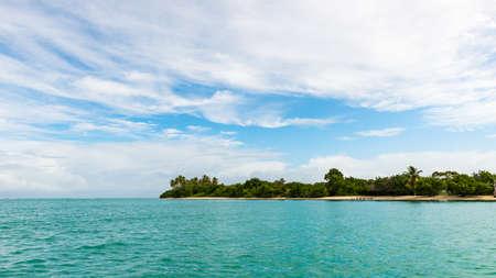 mans: No Mans Land Tobago panoramic view tropical seascape beach bay Caribbean