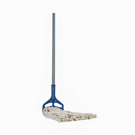 Industrial Heavy Duty Mop with Handle blue and grey plastice handle standing single