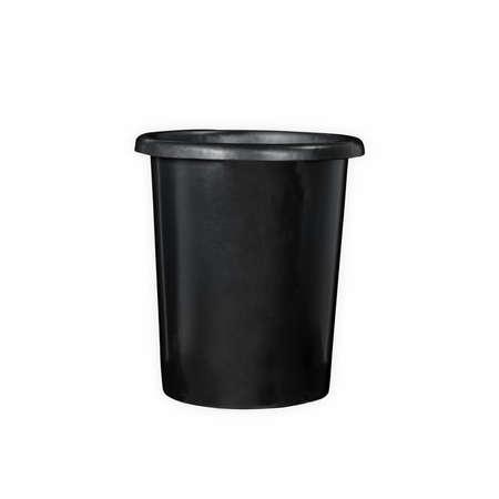 Black Plastic 5 Gallons Waste Bin Garbage disposal in white background 版權商用圖片