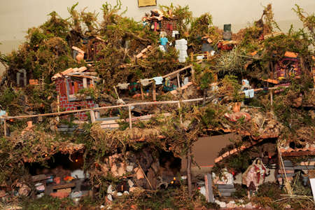 scènes de la Nativité Banque d'images