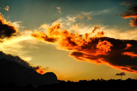 panoramas: sunset sky