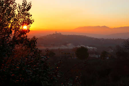 panoramas: Winter sunset in southern Italy
