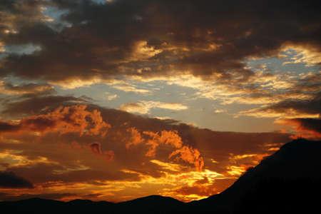italian sunset Stock Photo