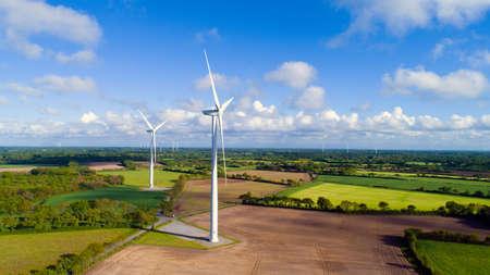 the loire: Wind farm in the French countryside near Saint Hilaire de Chaleons, Loire Atlantique