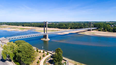 Aerial photo of Ancenis Brittany Anjou bridge
