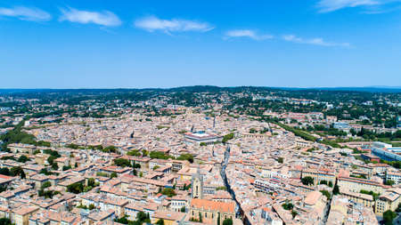 Aerial photography of Aix en Provence city