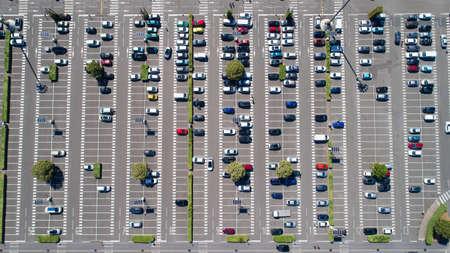 サン テルブレンの駐車場の空中写真 写真素材