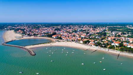 Aerial photography of La Bernerie en Retz, Loire Atlantique