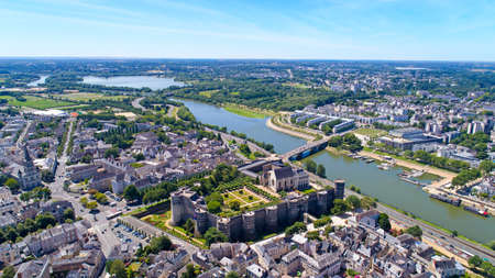Aerial photography of Angers castle in Maine et Loire