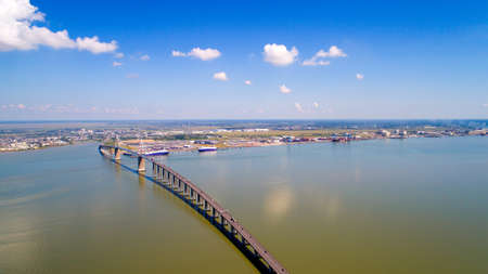 Aerial photography of Saint Nazaire bridge