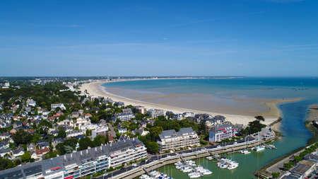 Aerial photo of La Baule Bay