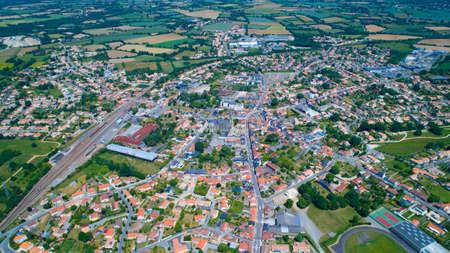 Aerial photo of Sainte Pazanne village
