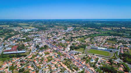 france station: Aerial photo of Sainte Pazanne village