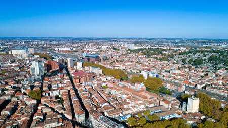 Aerial picture of Toulouse city center
