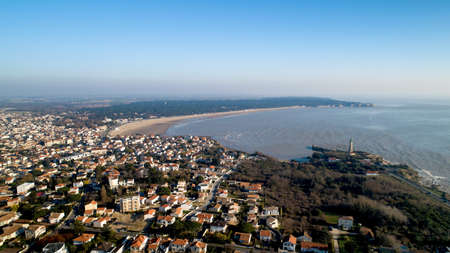 Aerial panorama of Saint Georges de Didonne in Charente Maritime Stok Fotoğraf