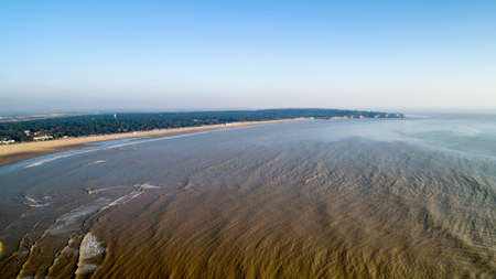 Aerial view of Saint Georges de Didonne beach and Suzac point