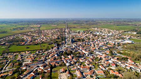 Aerial view of Les Lucs Sur Boulogne in Vendee
