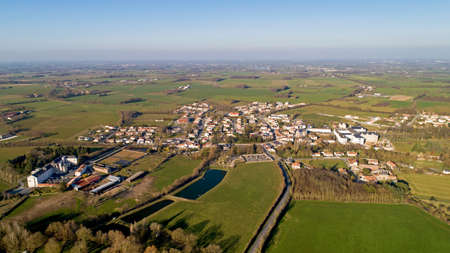 Aerial photography of Mormaison village in Vendee