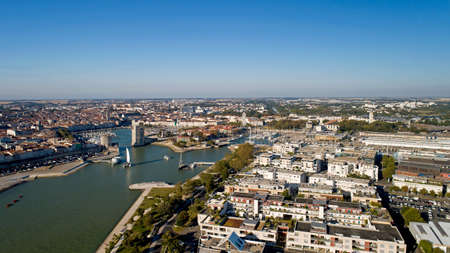 Aerial photography of La Rochelle city in Charente Maritime Stok Fotoğraf