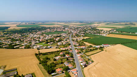 Aerial photo of Sainte Gemme La Plaine in Vendee