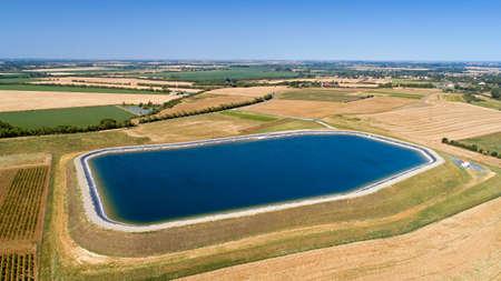 Artificial lake in the Gue de Velluire, France Stok Fotoğraf
