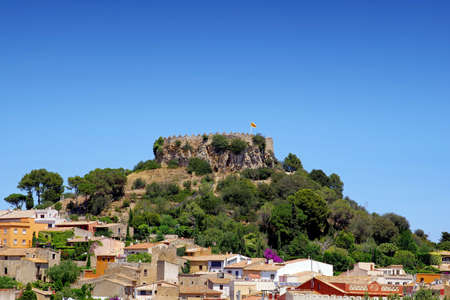 Photography of Begur castle in Catalonia, Spain