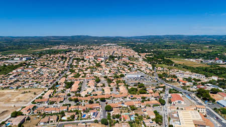 Aerial photo of Sigean in the Aude, France