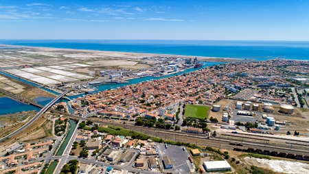 Aerial view of Port La Nouvelle in the Aude, France