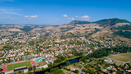 Aerial view of Millau and the Gorges du Tarn Standard-Bild