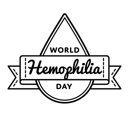 hemophilia: World Hemophilia day greeting emblem Illustration