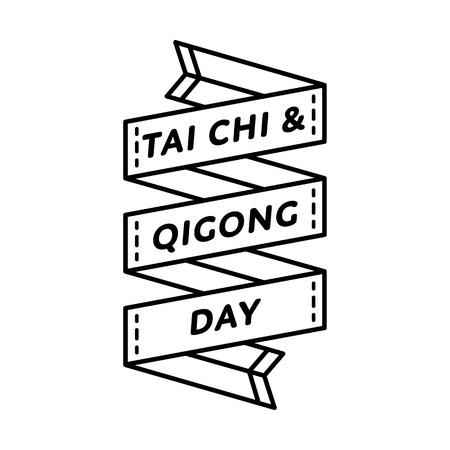 chi: Tai Chi and Qigong day greeting emblem