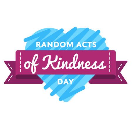 actos de bondad al azar emblema de felicitación del día