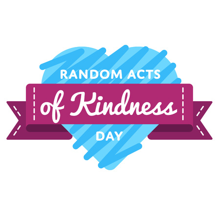 Random acts of kindness day greeting emblem Фото со стока