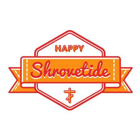 maslenitsa: Happy Shrovetide holiday greeting emblem