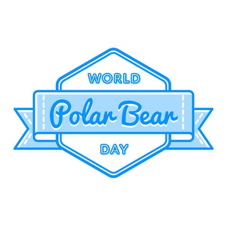 27: World Polar Bear day greeting emblem