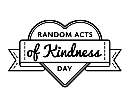 Random acts of kindness day greeting emblem 免版税图像