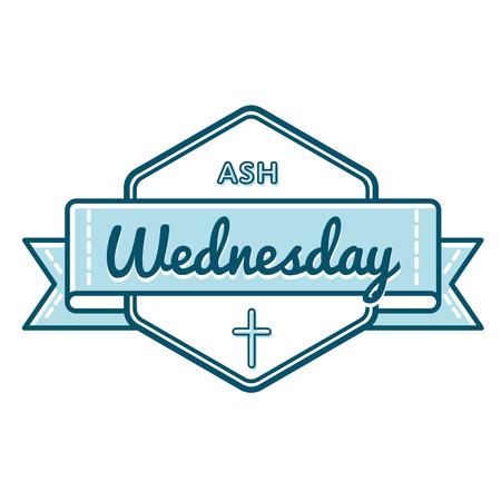 Catholic ash wednesday greeting emblem