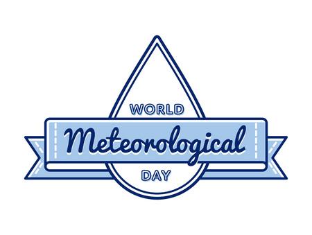 meteorological: World meteorological day greeting emblem