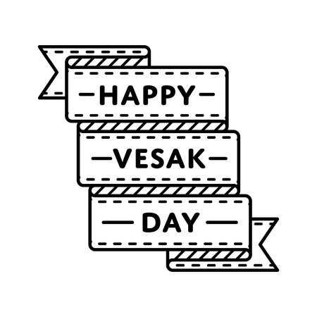 Happy Vesak day emblem isolated vector illustration on white background. 10 may world buddhistic holiday event label, greeting card decoration graphic element Stock fotó - 70736278