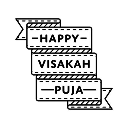 Happy Visakah Puja emblem isolated vector illustration on white background. 10 may world buddhistic holiday event label, greeting card decoration graphic element Stock fotó - 70736281