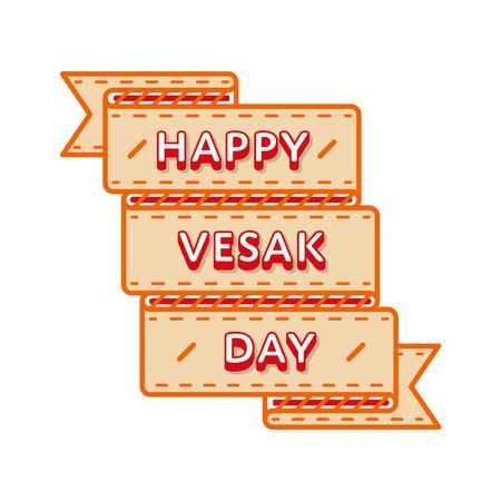 Happy Vesak day emblem isolated vector illustration on white background. 10 may world buddhistic holiday event label, greeting card decoration graphic element