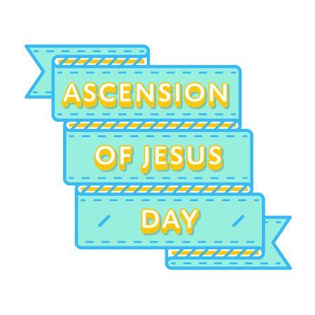 Hemelvaart van Jezus embleem geïsoleerde vectorillustratie op witte achtergrond. 25 mei wereld katholieke vakantie evenement label, wenskaart decoratie grafisch element Stock Illustratie