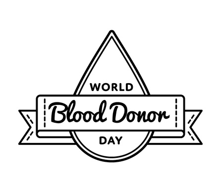 donation drive: World Blood Donor day greeting emblem
