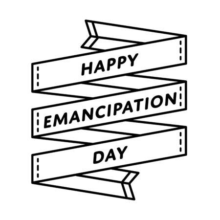 the emancipation: Happy Emancipation day greeting emblem Illustration