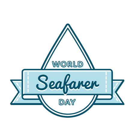 World Seafarer day greeting emblem