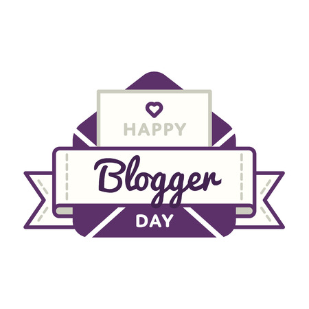 Happy Blogger day greeting emblem